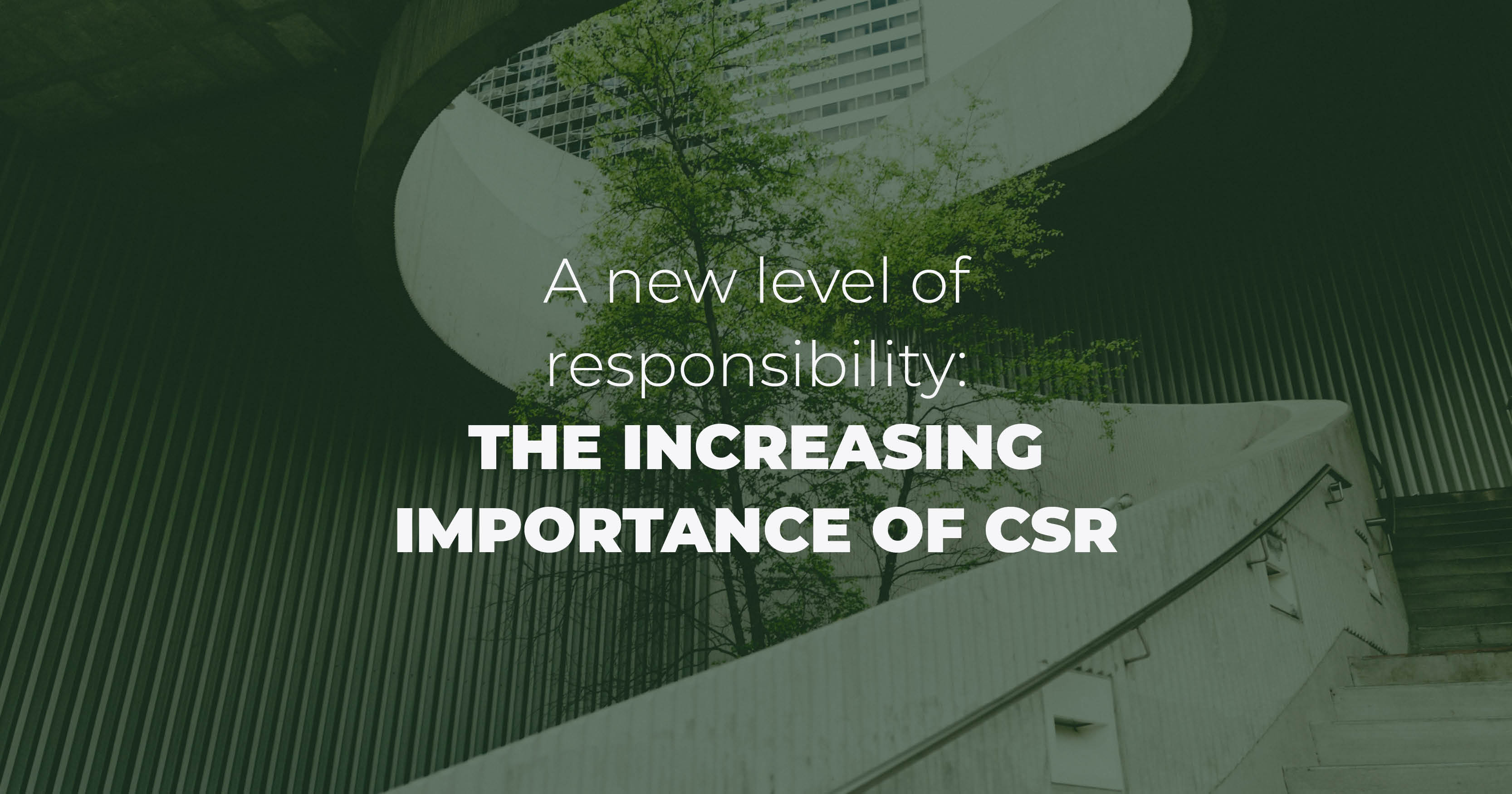 A New Level Of Responsibility: The Increasing Importance Of CSR